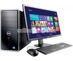 "CPU Intel Core i3 4GB 500GB 17"" Monitor"