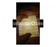 Train ticket (3) Dhaka-Khulna 21st aug