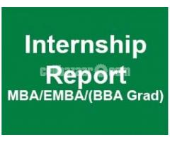 Internship report writing, Assignment writing for Business Students