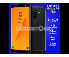"""Samsung Galaxy A6 Plus 4GB RAM 64GB ROM 6"""" Smartphone"""