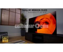 """Sony Bravia A1 65"""" 4K OLED HDR Smart Android Television"""