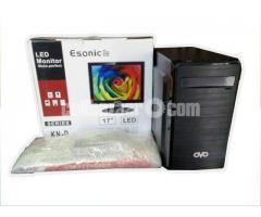 "Core 2 DUO +2gb DDR3+250gb+17"" LED PC"