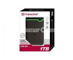 Original Transcend 1Terrabite+1 small jet cooling fan (attatched inside)Portable Harddisk