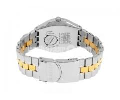 Swatch Stainless Steel Silver/Gold Watch For Men