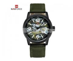 WW0061 Original Naviforce Camouflage Date Belt Watch 9080