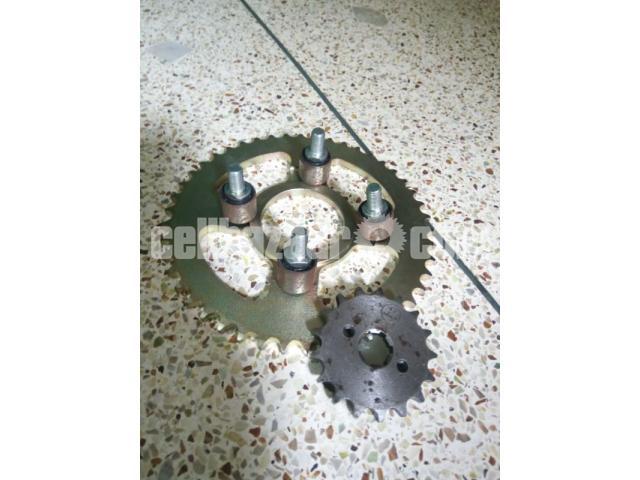 Sprocket with mounting bush for Lifan XL, 150 cc - 1/1