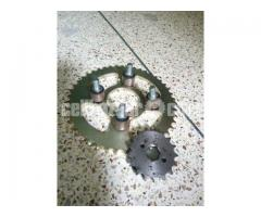 Sprocket with mounting bush for Lifan XL, 150 cc