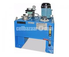 Hit pressing machine for bekolite product molding with new hydraulic power pack