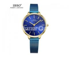 WW0073 Original IBSO Ladies Mesh Chain Watch 6603