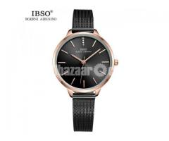 WW0074 Original IBSO Ladies Mesh Chain Watch 6603