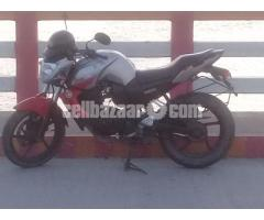 FZS 143cc bike.  colour red and silver. Runnig 55k km.