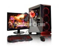 "GAMING PC CORE i5 500GB 8GB 17""LED"