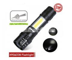ZOOMABLE XPE COB Mini Flashlight Pocket Torch Lantern