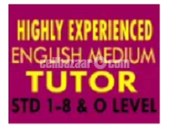 Original English Medium tutor are available - 1/2