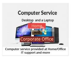 Computer services provided at Home/Office