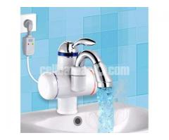 Electric hot water heater tap