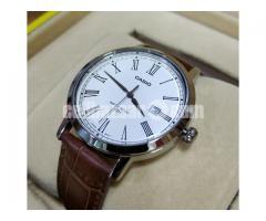 WW0114 Original Casio Enticer Leather Belt Watch MTP-E149L-7BV