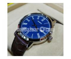 WW0115 Original Casio Enticer Leather Belt Watch MTP-E149L-2BV