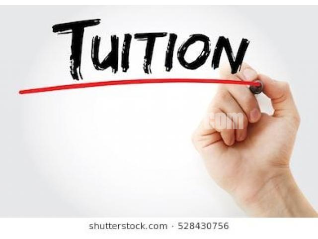 Tuition availble - 1/1