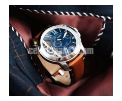 WW0124 Original Fossil Grant Twist Leather Belt Watch ME1161