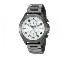 WW0132 Original Tommy Hilfiger Multifunction Gunmetal Steel Watch 1791341