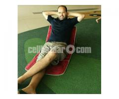 Relax & Read Folding Mat with backrest