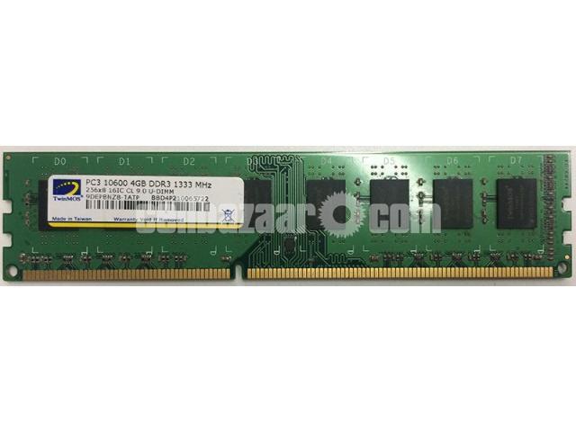 TwinMOS RAM 4GB 1333MHz PC3-10600 DDR3 Desktop Memory