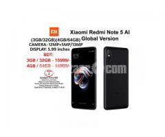 Xiaomi Redmi Note 5 AI Official Global Version 3GB/32GB-4GB/64GB