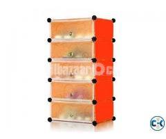 5 layers Drawer Type Plastic Storage Cabinet Wardrobe