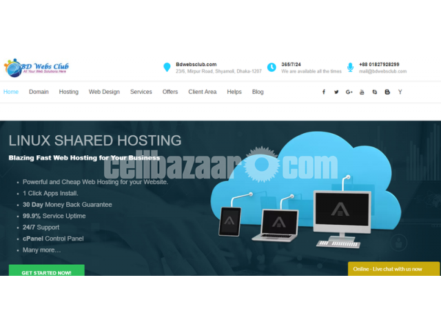 Domain Hosting  Web Design & Development Services - 1/5