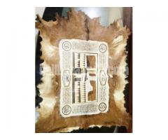 Leather wall hanging