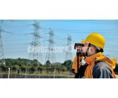 Multifunctional engineering measuring laser range finder
