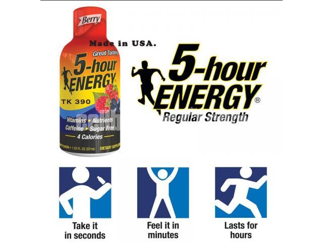 5-Hour Energy Drink, Berry Flavor - 1/2