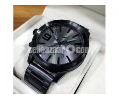 WW0151 Original Diesel Rasp Black Sunray Dial Chronograph Chain Watch DZ4453 - Image 2/4