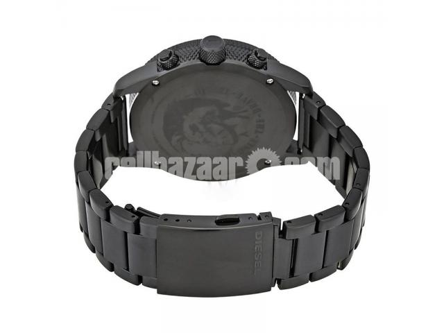WW0151 Original Diesel Rasp Black Sunray Dial Chronograph Chain Watch DZ4453 - 4/4