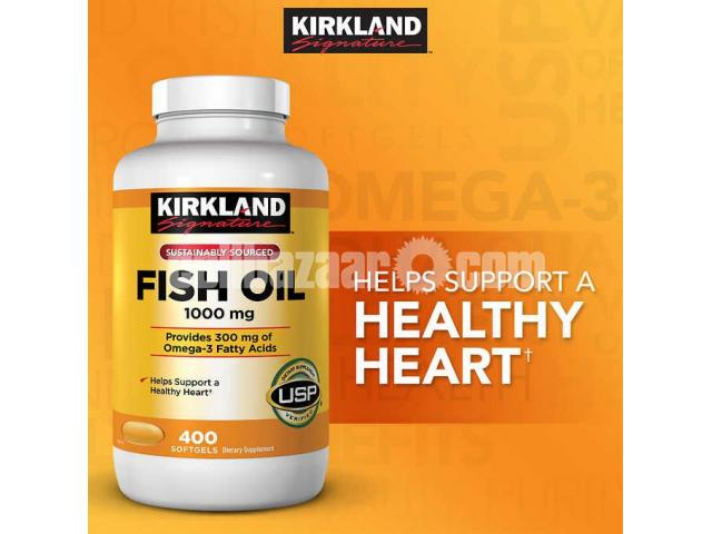 Kirkland Signature Fish Oil 1000mg. 400 Softgels in Bangladesh - 1/1