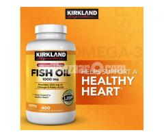 Kirkland Signature Fish Oil 1000mg. 400 Softgels in Bangladesh