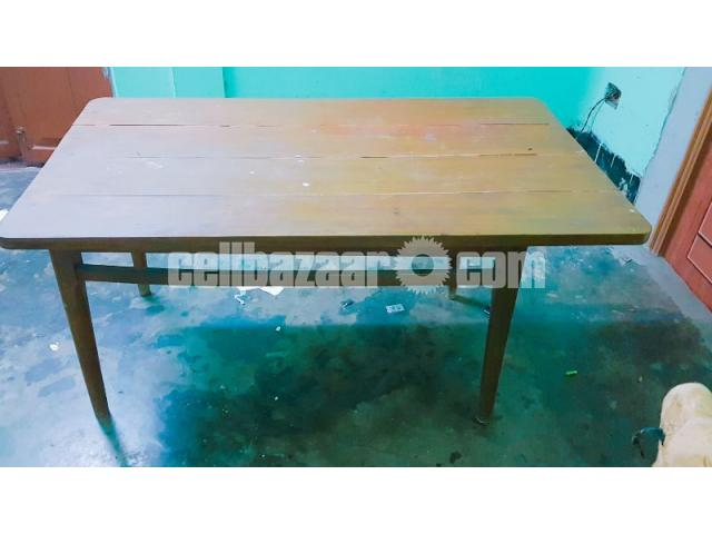 6 SEATED WOODEN DINING TABLE - 3/4