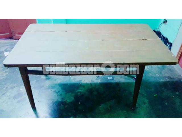 6 SEATED WOODEN DINING TABLE - 4/4