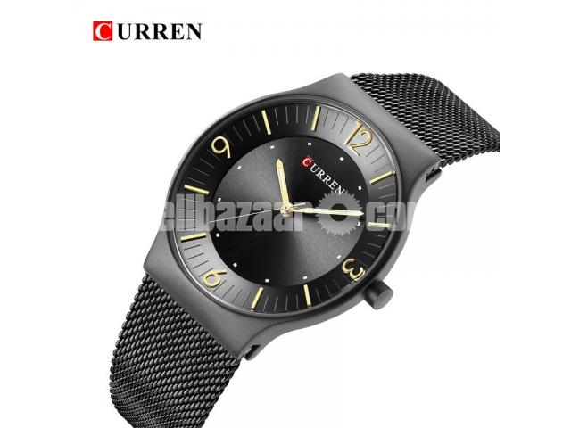 WW0163 Original Curren Slim Mesh Chain Watch 8304 - 1/5