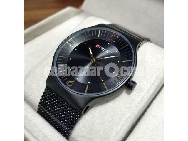 WW0163 Original Curren Slim Mesh Chain Watch 8304 - 3/5