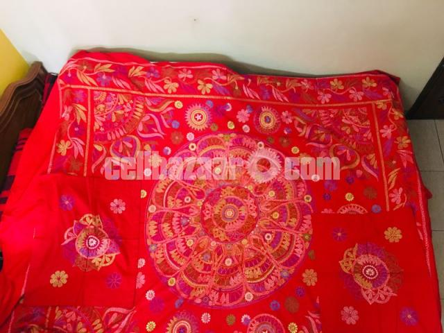 Red Nokshi Chador - 1/1