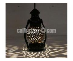 Coconut Shell Made Hurricane Lamp