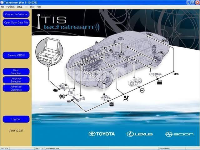 Toyota techstream tis scanner - 1/4