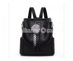Women Exclusive Imported Backpack And Hand Bag Black
