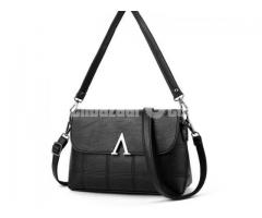 Spring Collection Ladies Cubic Sling Bag Women Bag Black