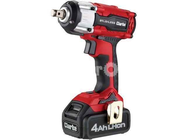 "Clarke CIR18LI 18V Brushless 4Ah ½"" Impact Wrench - 1/1"