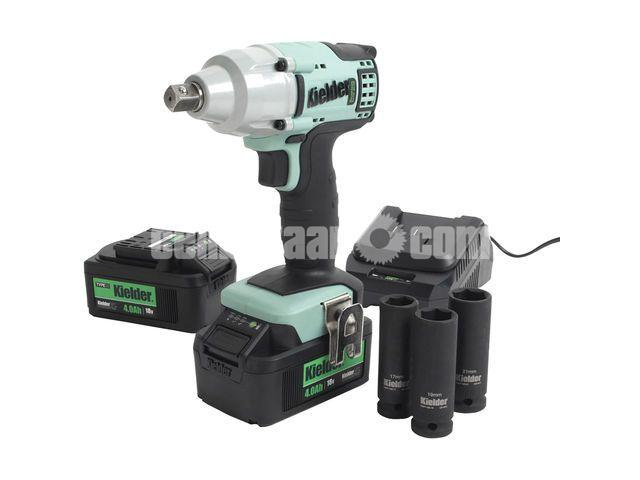 "Kielder KWT-002 1/2"" Drive 18V Brushless Impact Wrench with 2 x 4Ah Batteries - 1/1"