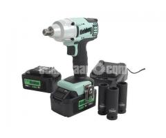 "Kielder KWT-002 1/2"" Drive 18V Brushless Impact Wrench with 2 x 4Ah Batteries"