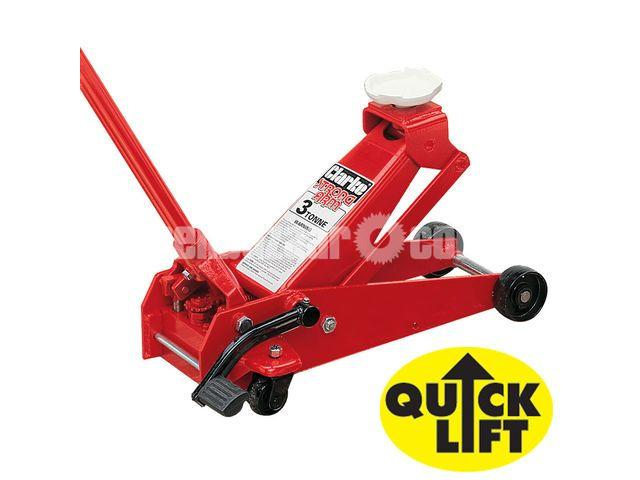Clarke CTJ3QLG 3 Tonne Quick Lift Professional Trolley Jack - 1/1